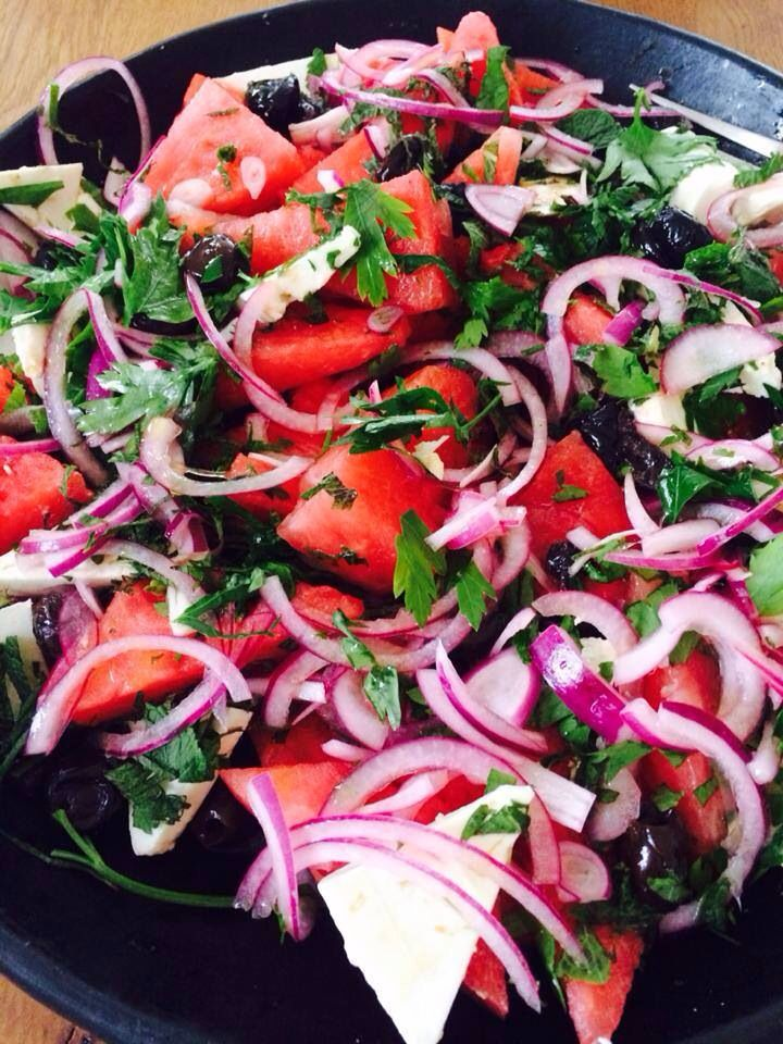 ... Amp, Watermelon Feta, Black Olive, Eating, Olive Salad, Olive Parsley