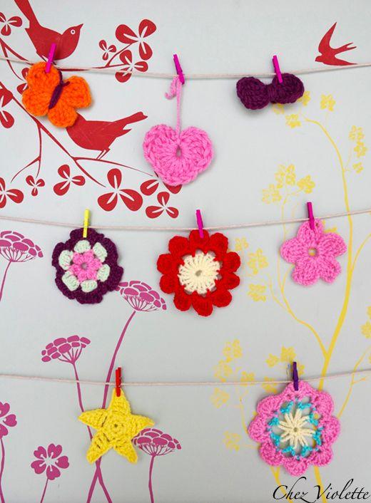Easy and cute crocheted things /tutorial - Petites choses faciles et mignonnes à faire au crochet / tutoriel