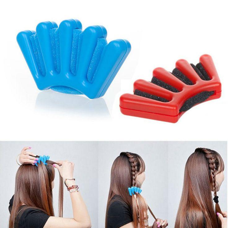 New Hair Braider Braider Stylist Sponge Plaitic Hair Twist Styling Accessories Braiding Tool Blue And Red on http://ali.pub/rkg3q