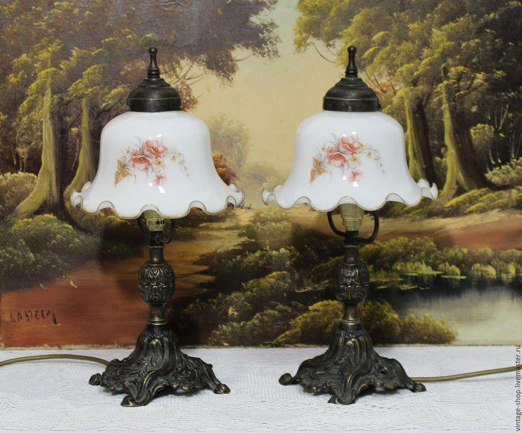 Купить Две антикварные лампы, Германия 1940-50 года - лампы, лампа настольная, лампа