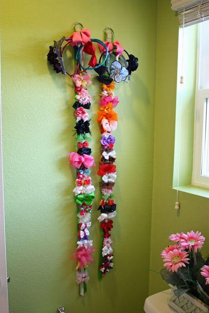 Sunny Side Up: organizing girls' hair bows