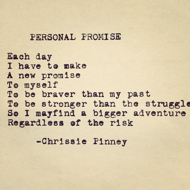 Chrissie Pinney  Personal Promise.