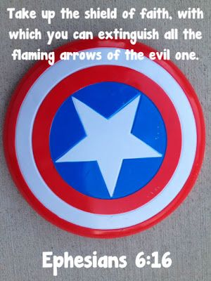 worthyoftheprize.com: Raising Biblical Superheroes {Ephesians 6}: The Helmet of Salvation and The Shield of Faith