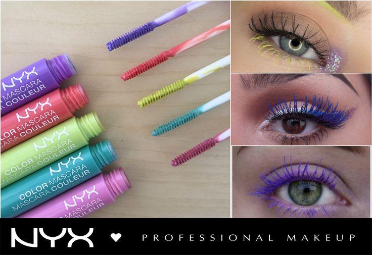 Είμαστε μια ανάσα πριν την Άνοιξη και ήρθε η ώρα να βάλουμε χρώμα στο μακιγιάζ μας και το κάνουμε πιο παιχνιδιάρικο! Η σειρά NYX Color Mascara (CM) έχει 8 έντονες funky αποχρώσεις για να δημιουργήσουμε και να ξεφύγουμε απο τα κλασικά μακιγιάζ!