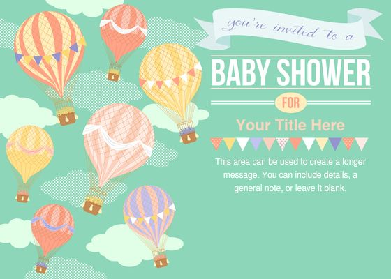 Hot Air Balloon Baby Shower (evite), $10
