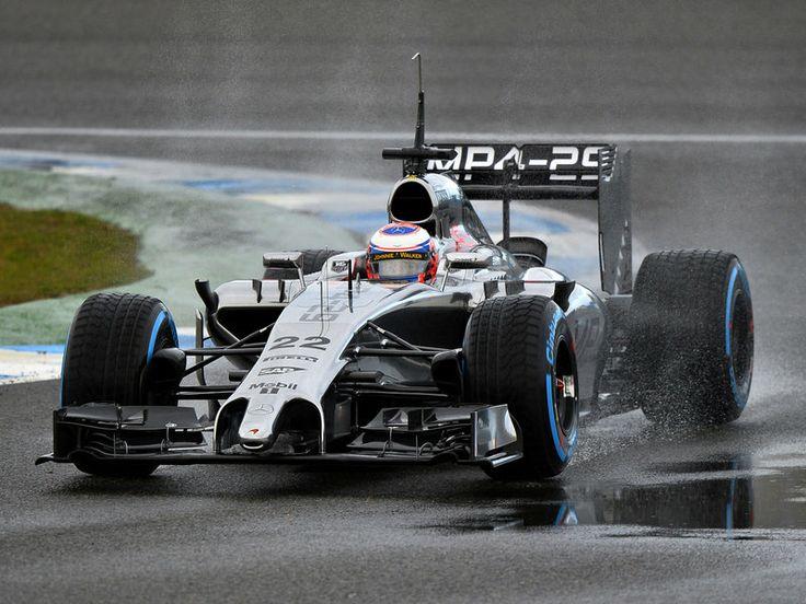 Jenson Button in the 2014 McLaren F1 car