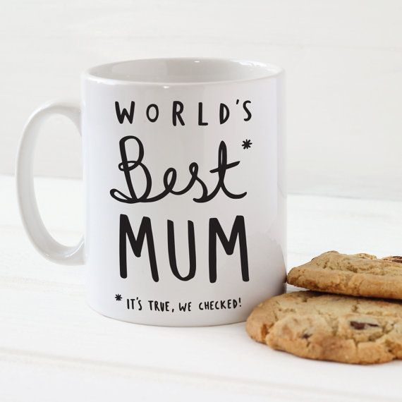 World's Best Mum Mug  Stylish Ceramic Mug for Mum  by OldEnglishCo