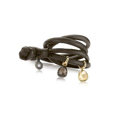 Sweet drops læderarmbånd, brunt, sweet drops armbånd fra Ole Lynggaard | Dirks Design