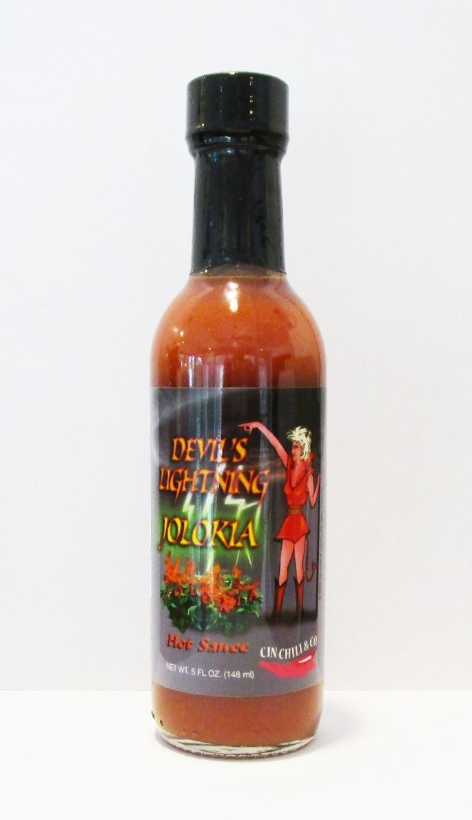 Cin Chili Devil's Lightining Jolokia Hot Sauce | Treasure Journeys  Cin Chili Devil's Lightning Jolokia Hot Sauce is a combination of natural smokey flavored ghost peppers with a subtle sweet and sour finish.