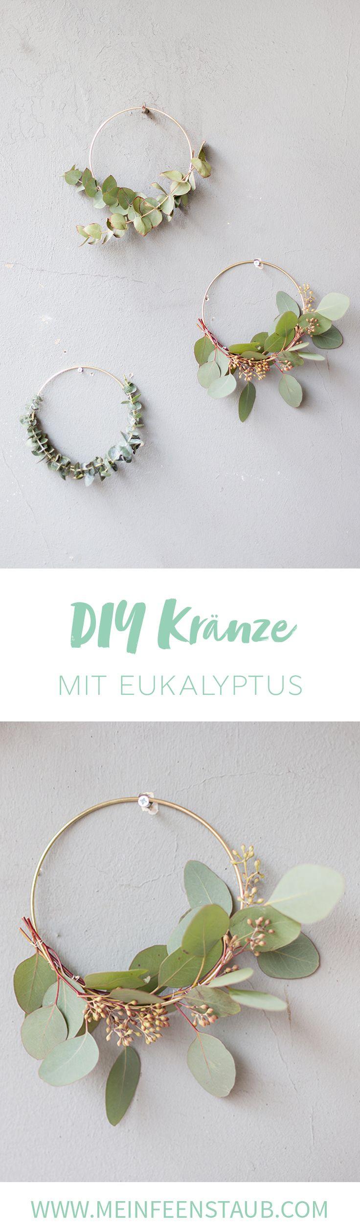 Kreative DIY Idee für weihnachtliche Deko: Eukalyptuskranz einfach selbermachen | Weihnachtsdeko selbstgemacht mit DIY Tutorial