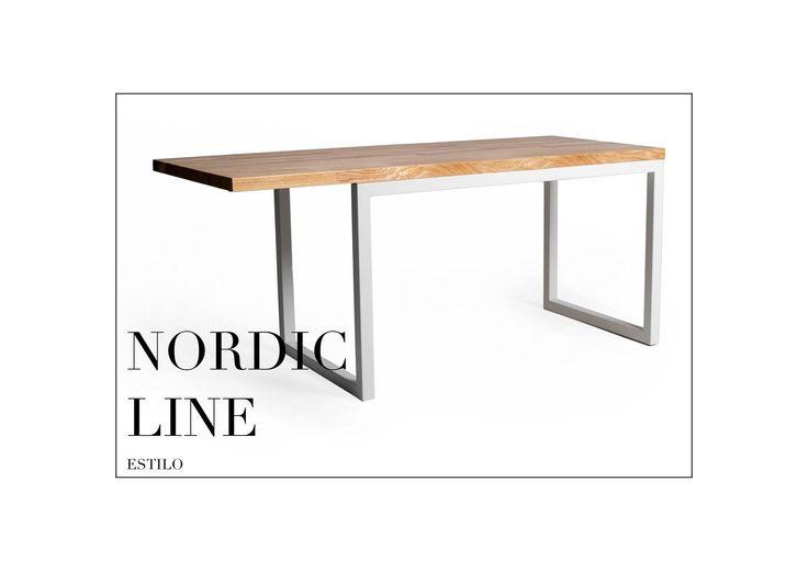 Stół - Estilo Nordic Line Plus Skandynawski design. Prosta i czysta forma! Totalny minimalizm! Szlachetność drewna uzupełnia stal. Rozmiar: 160cm długość x 65 szerokość x 75cm wysokość Grubość blatu stołu: 2,7cm Wykończenie: jesion lakierowany, stal lakierowana proszkowo. Chętnych do zakupu zapraszamy. Dostępne warianty wykończeń są związane z wyceną indywidualną. Drewno: dąb, jesion, buk oraz akacja. Rozmiar: możemy wykonać według zamówienia. www.estilo-art.pl