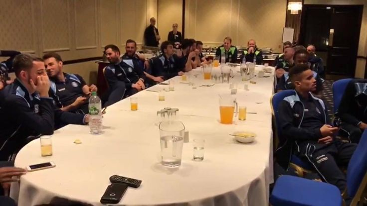 The moment Wycombe found out they'll be playing Spurs. This is what the FA Cup is about!  Credit: Wycombe Wanderers FC