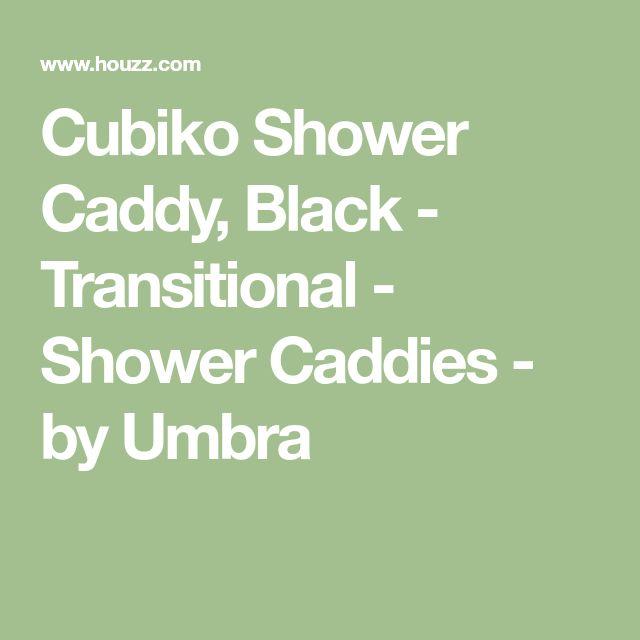 Cubiko Shower Caddy, Black - Transitional - Shower Caddies - by Umbra