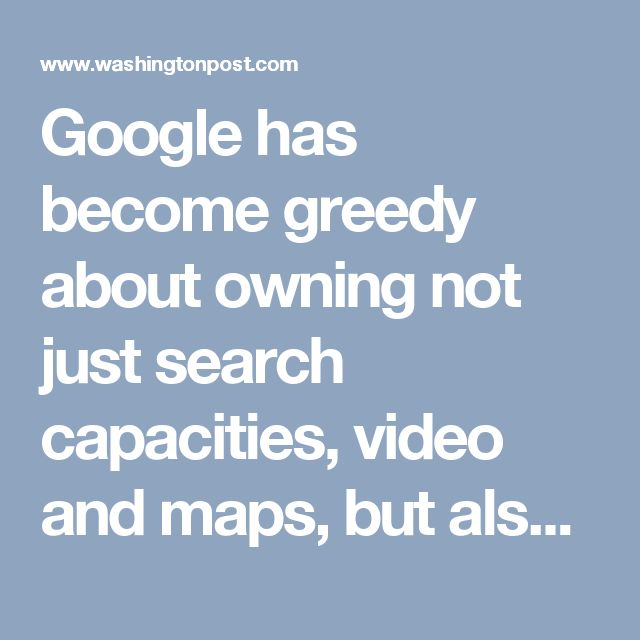Google has become greedy about owning not just search capacities, video and maps, but also the shape of public discourse. As the Wall Street Journal recently reported, Google has recruited and cultivated law professors who support its views. And as the New York Times recently reported, it has become invested in building curriculum for our public schools, and has created political strategy to get schools to adopt its products.
