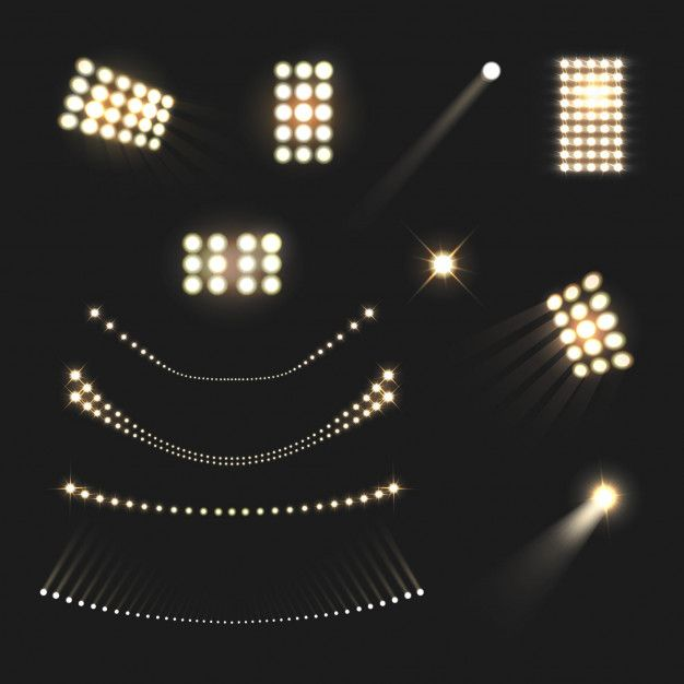 Download Stadium Floodlights Lights And Lamps Realistic Set Isolated For Free In 2020 Vector Free Vector Photo Realistic