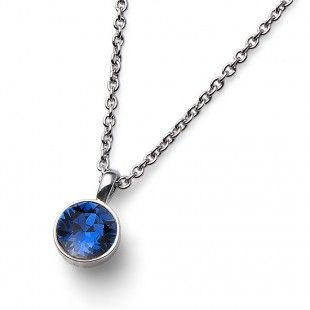 Oliver Weber Women blue montana pendant necklace uno with Swarovski Crystals