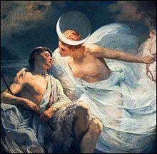 """Selene En la mitología griega, Selene (en griego antiguo, Σελήνη Selếnê) era una antigua diosa lunar hija de los titanes Hiperión y Tea. Su equivalente en la mitología romana era la diosa Luna. Pero también lo usan como nombre que significa """"diosa de la luna""""- Wikipedia, la enciclopedia libre"""
