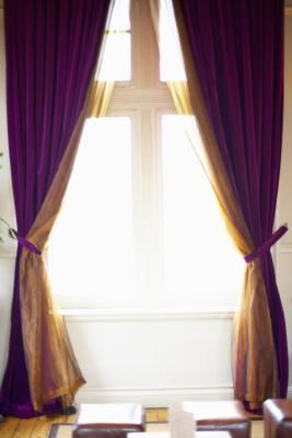 Living Room Curtain Ideas for Two Windows Side by Side....this was my idea exactly!!!!! yay...nice to know that i'm on the right track...