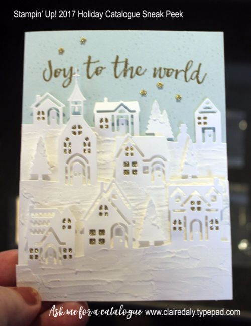 Stampin Up 2017 Holiday Catalogue sneak peeks. Claire Daly Stampin' Up! Demonstrator Melbourne Australia.