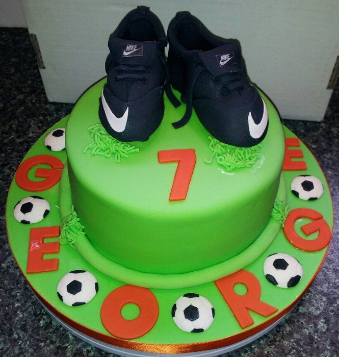 Football boots - by Jan @ CakesDecor.com - cake decorating website