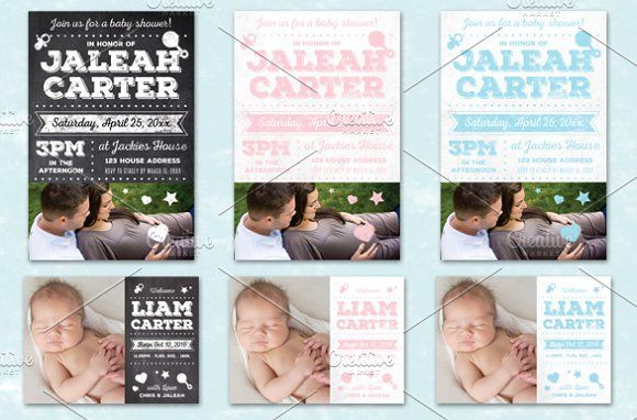 Chalk Baby Shower + Announcement  by Lucion Creative on @creativemarket