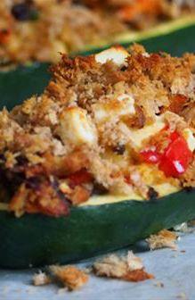 Baked Stuffed Zucchini | Farmhouse Direct #FarmhouseAU #Zucchini #cooking #vegetables #dinnerideas #dinner #foodie #recipe #recipeideas #meal #lunch