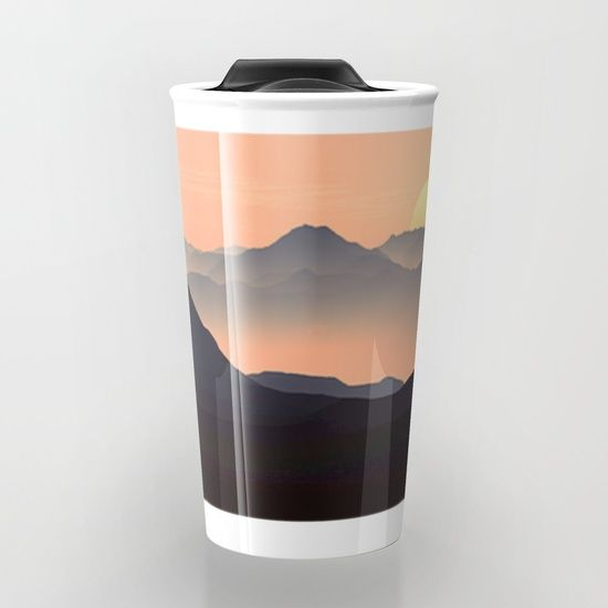 Mountains Travel Mug