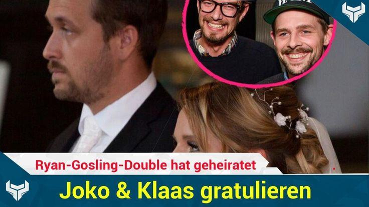 Er ist weg vom Markt! Ludwig Lehner Double von Ryan Gosling (36) hat am Wochenende seine Freundin Cathi geheiratet. Bekannt wurde der Münchner Koch durch seinen Auftritt als Ryans Doppelgänger bei der Verleihung der Goldenen Kamera im März  eine Aktion von Circus HalliGalli. Ehrensache also dass die Moderatoren Joko Winterscheidt (38) und Klaas Heufer-Umlauf (33) ihrem Schützling liebe Glückwünsche geschickt haben!   Source: http://ift.tt/2si9fSc  Subscribe: http://ift.tt/2rOq3h3 hat…