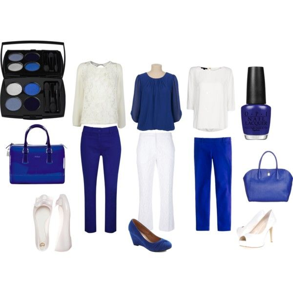 Business Chic Blue and White by happybirddesign on Polyvore