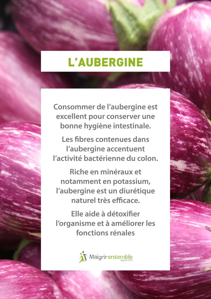 Fruits et Légumes - L'Aubergine  // Bienfaits Alimentation saine et équilibrée