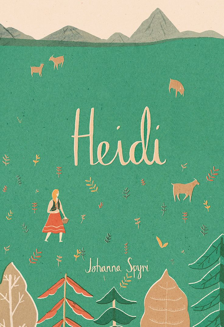 A Digital Giclee Print Of An Original Illustration Inspired By The Story Of  Heidi By Johanna