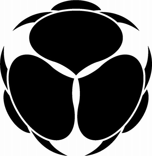 後ろ向き三つ兎( kamon (家紋), are Japanese emblems used to decorate and identify an individual or family.)