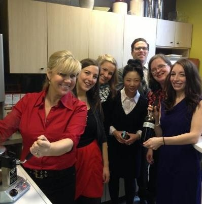 H+K Vancouver is also in the Valentine's spirit, celebrating with a tasty waffle breakfast. Vancouver GM Joy leads by example with her considerable waffle iron skills.