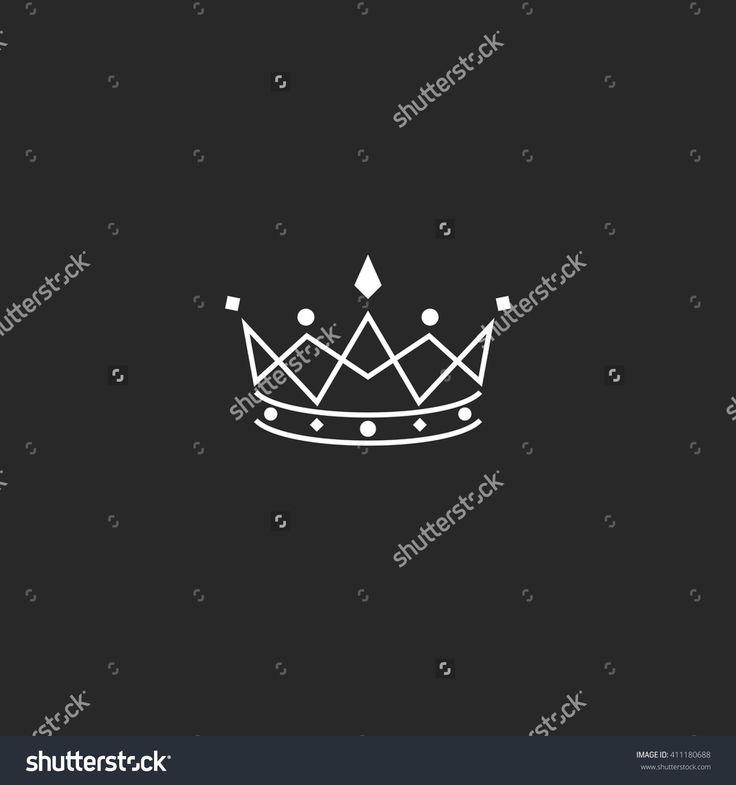 Royal symbol icon, monogram crown logo, beauty tiara princess, medieval king coronation emblem