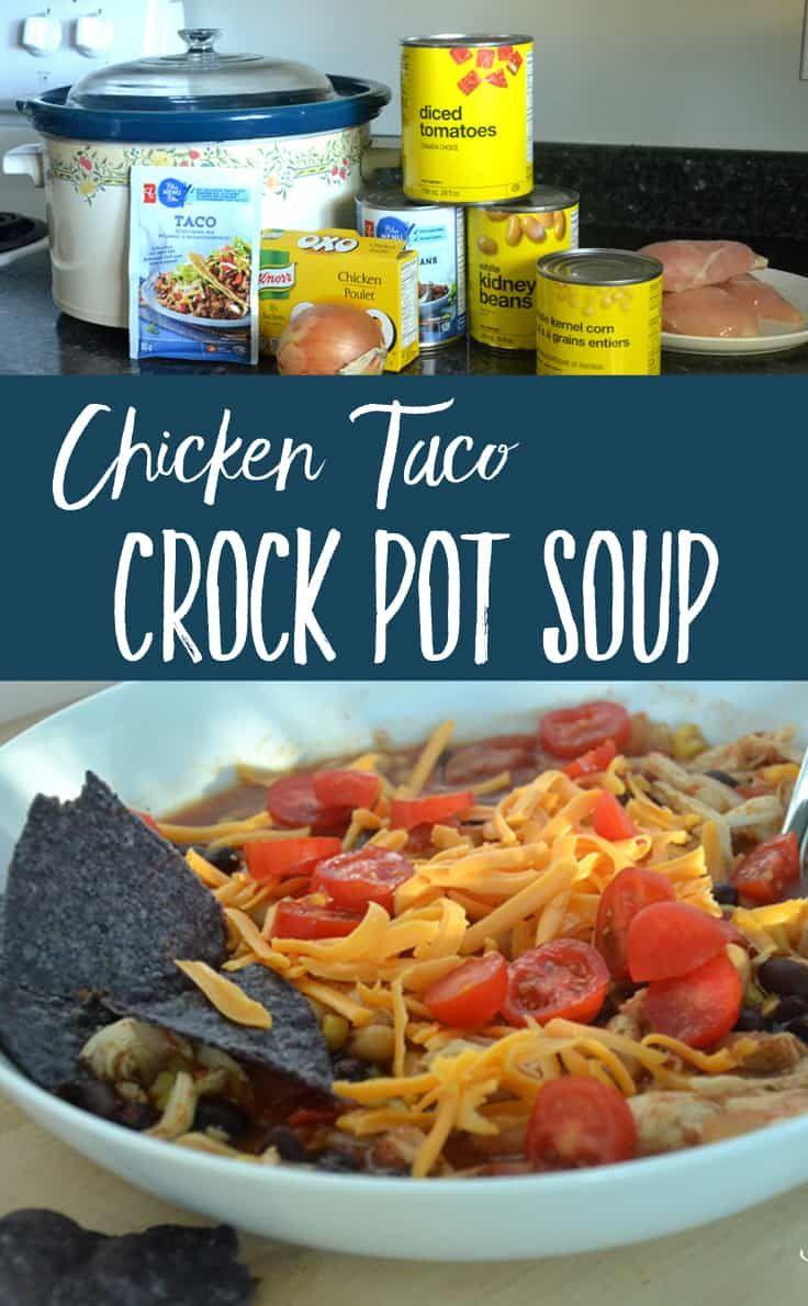 CROCK POT CHICKEN TACO SOUP| Crock Pot Recipes| Taco Soup| Chicken Soup