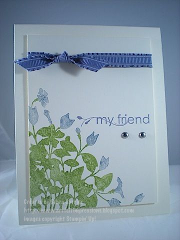 Simply My Friend by pdncurrier - Cards and Paper Crafts at Splitcoaststampers