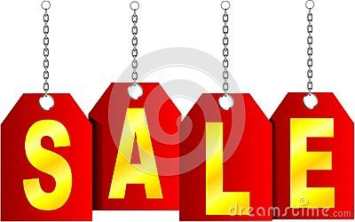 Vector Gold SALE label with chain.