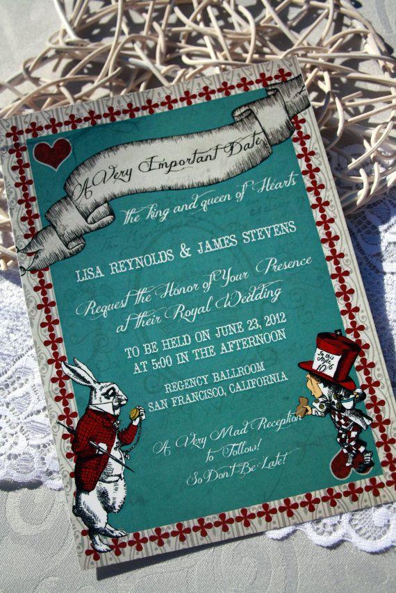 Oraciones para invitaciones de boda Vintage Alice