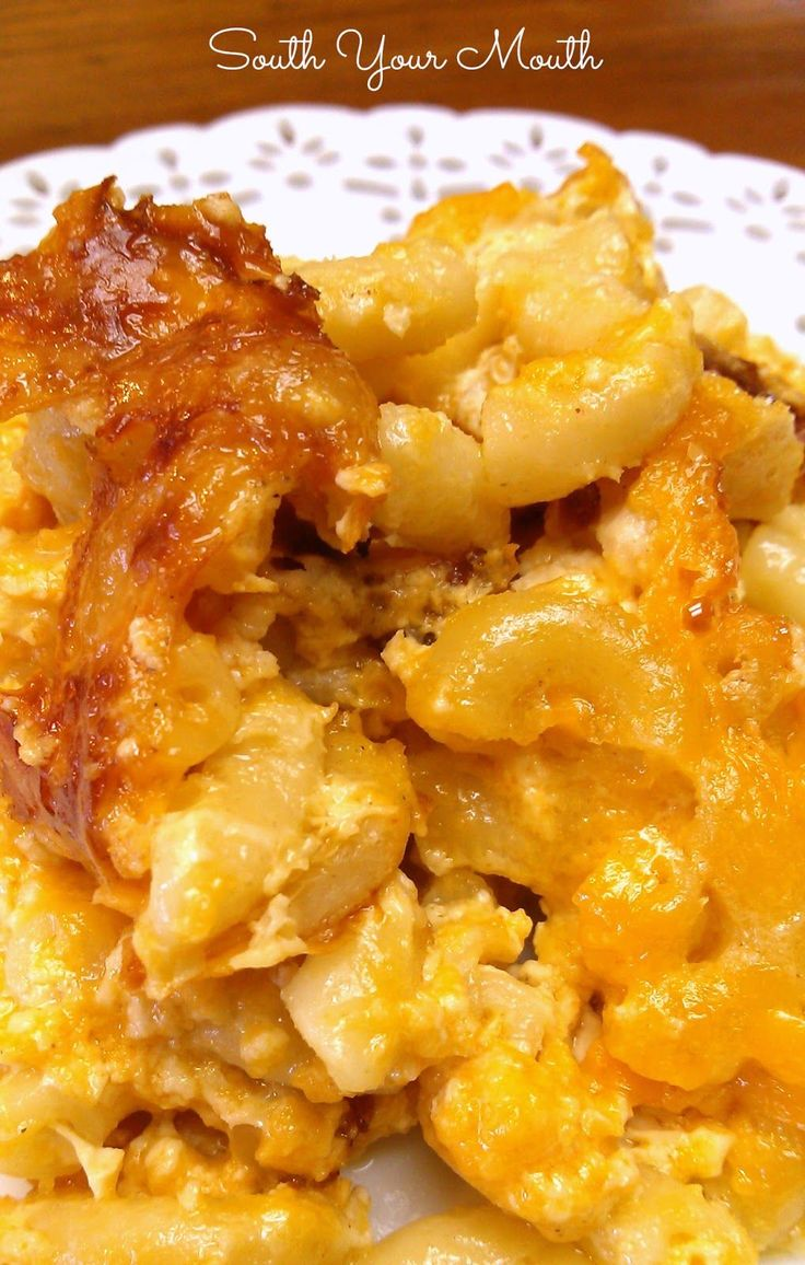 Southern Mac and Cheese in the Crock pot--- South Your Mouth: Southern Christmas Dinner Recipes