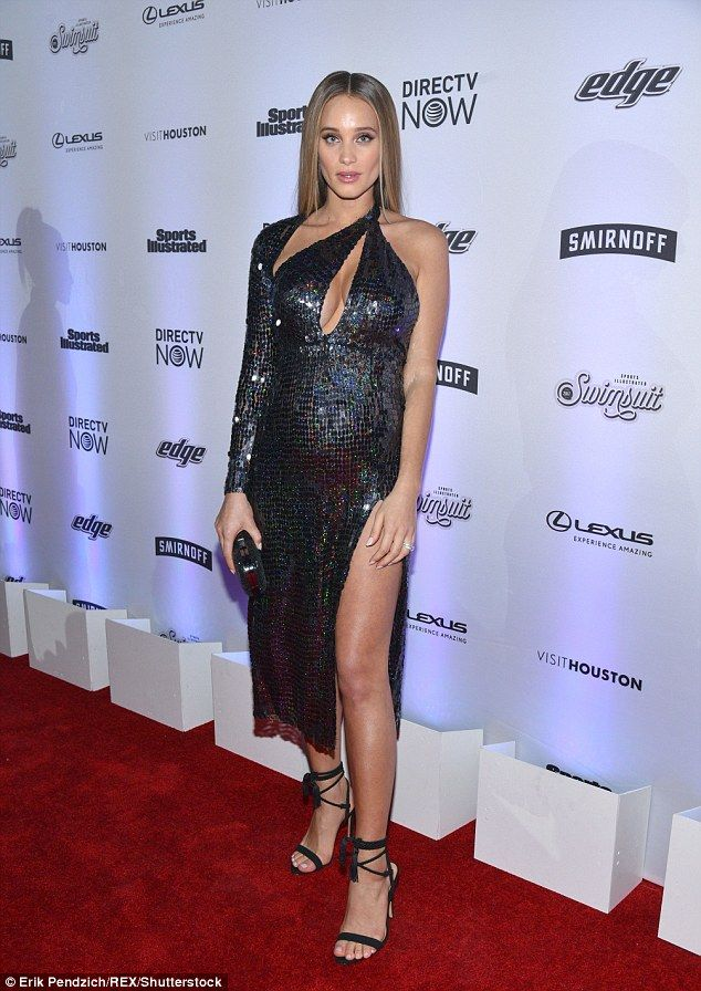 Interrupted celebration: Pregnant Hannah Davis got stuck in an elevator for nearly 30 minutes as she attended the Sports Illustrated Swimsuit Edition launch party in New York