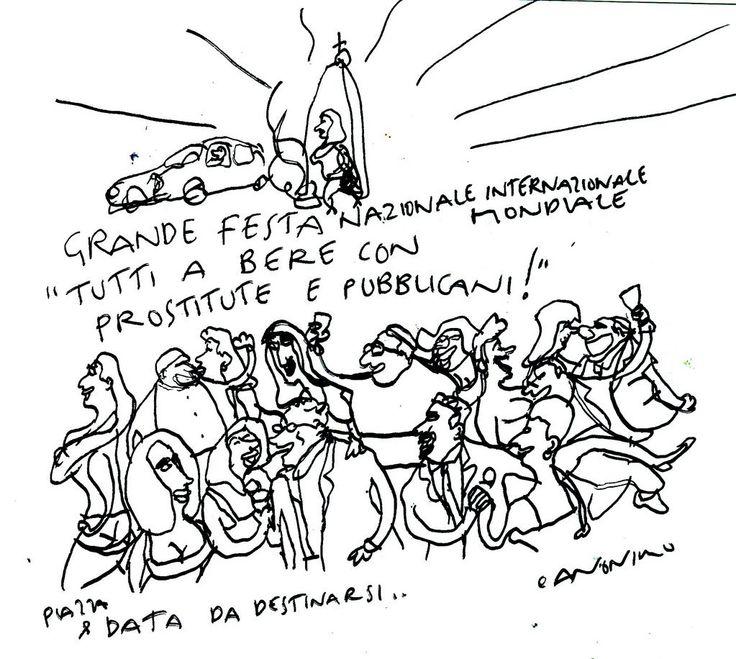 una grande festa a roma seguendo le parole del papa e la pratica dei vangeli,poi ve lo coloro tutto @alinomilan
