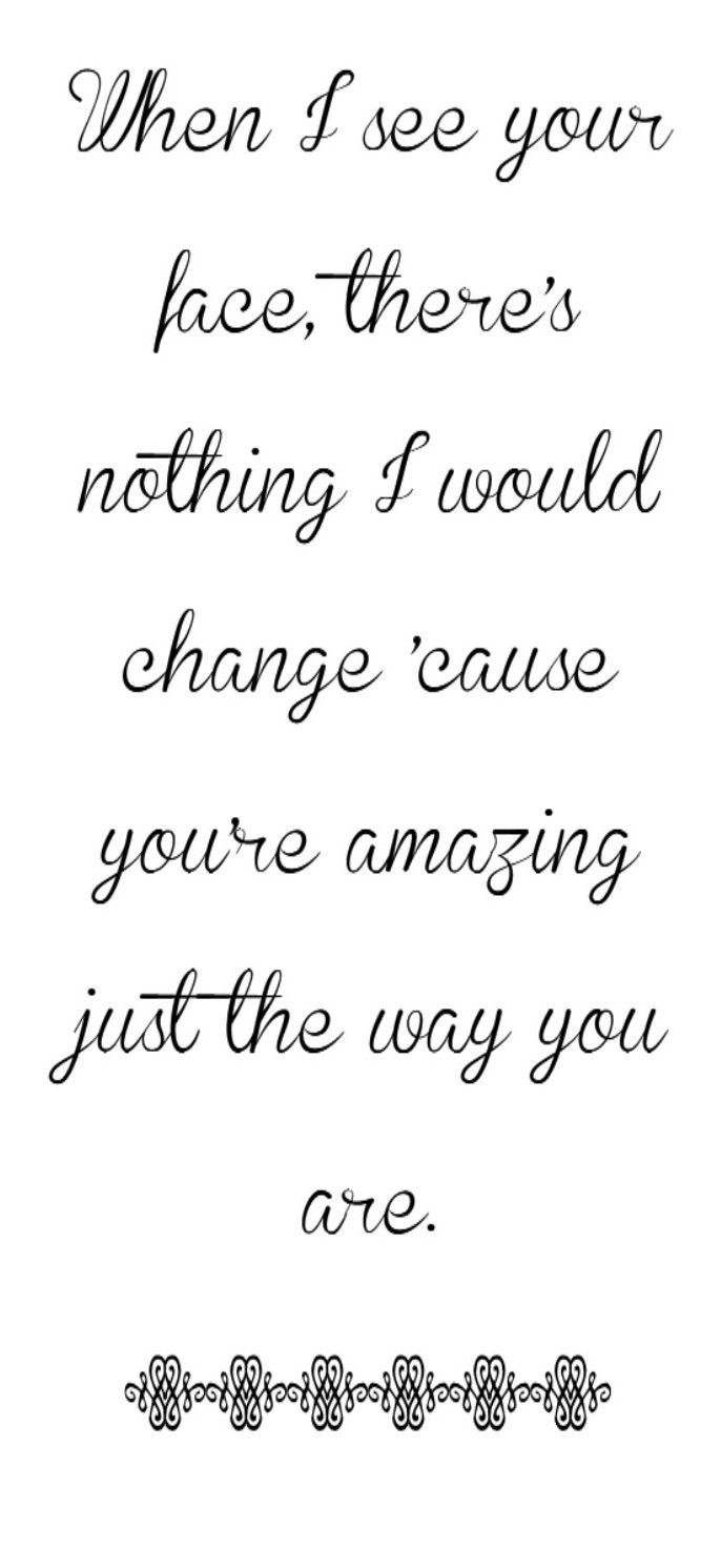 Music Lyrics Rebecca Bains Bruno Mars - Just The Way You Are - song lyrics, song quotes, songs, music lyrics, music quotes, : Cathy Morgan's Blog