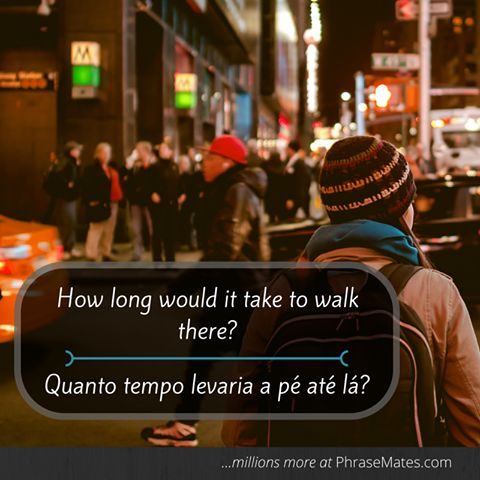 If you enjoy walking, don't forget this phrase the next time you visit a new city!