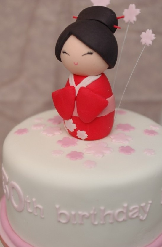 the cupcake gallery - kids' birthday - japanese cherry blossom