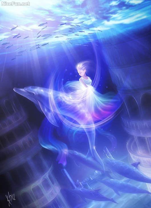 Underwater Fantasy Art by Shu Mizoguchi