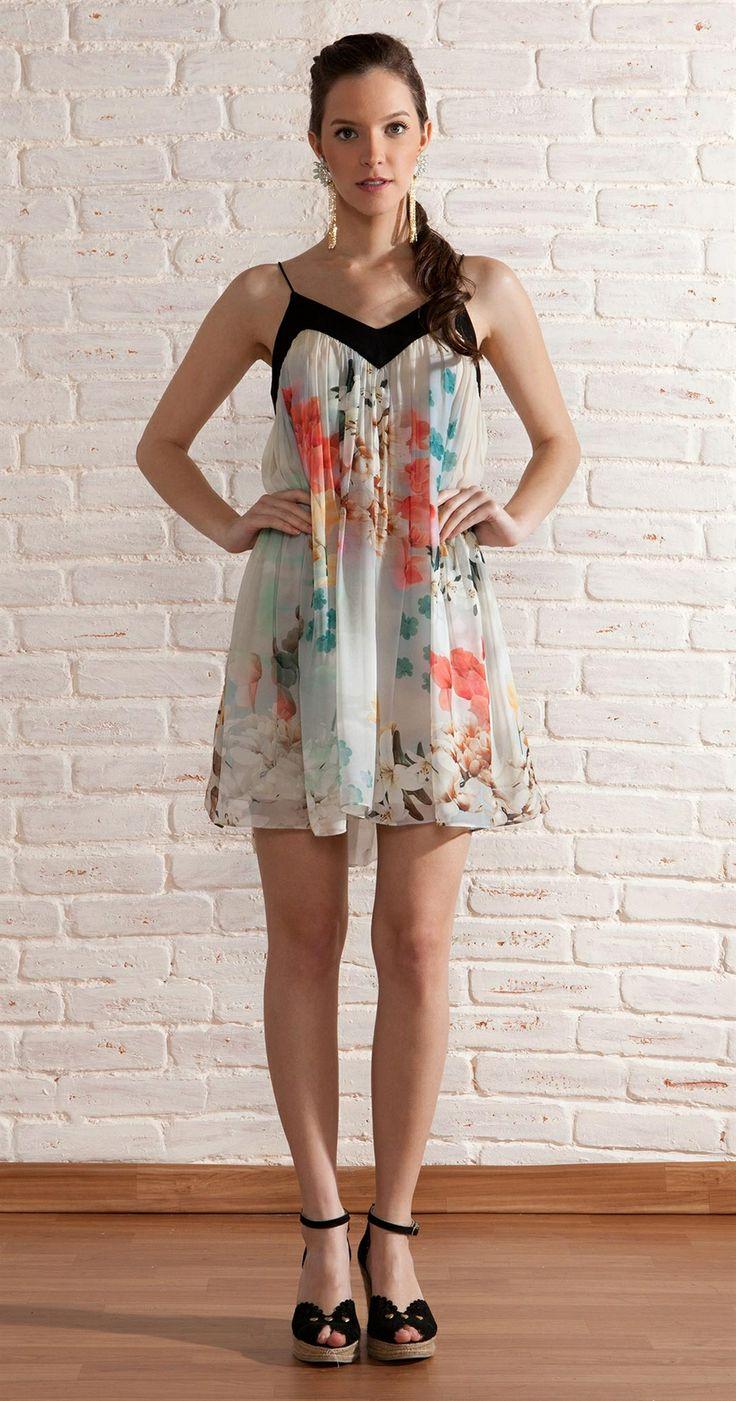 Vestido Chifon Floral | Lookbook | Antix Store