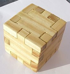 Picture of Wooden Puzzle Cube 3D (3D Puzzle Cube constructed with Sketchup 2013 suite)
