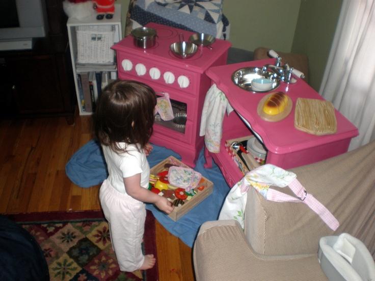 14 best Play kitchen images on Pinterest   Cocinas de juguete ...