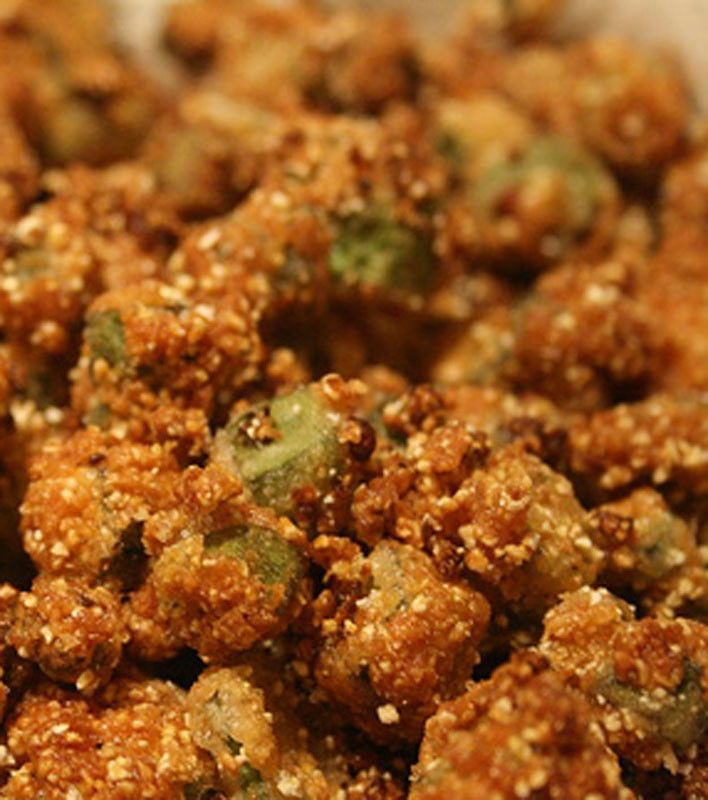 """Oven Fried Okra #Recipe. Dbl-click pic, then click """"Read full directions on Food.com"""" for recipe. #Summer"""