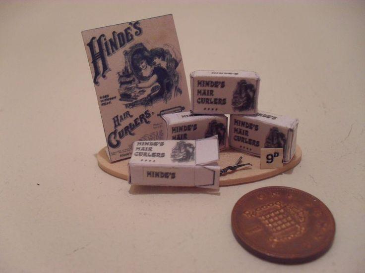 Miniature 1 12 scale handmade victorian shop display hair tongs victoria lane